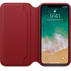 LEATHER FOLIO CASE MRQD2ZM/A IPHONE X / IPHONE XS RED