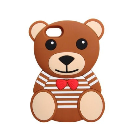 CASE 3D BEAR IN STRIPES IPHONE 5 5S SE