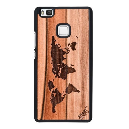 CASE WOODEN SMARTWOODS MAP HUAWEI P9 LITE