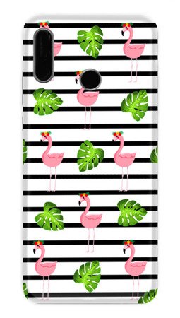 CaseGadget CASE OVERPRINT FLAMINGOS AND LEAVES LENOVO MOTO P40 PLAY