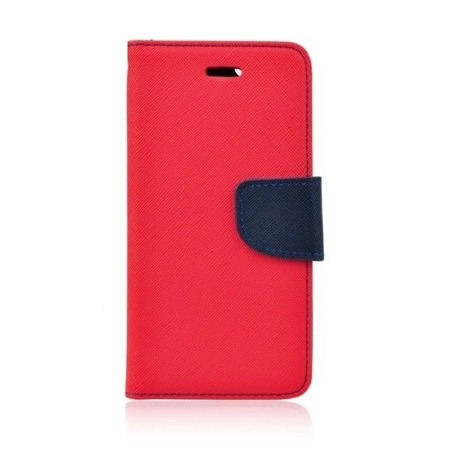 FANCY BOOK CASE IPHONE 7 PLUS / 8 PLUS RED NAVY BLUE