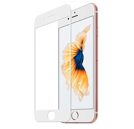 TEMPERED GLASS 5D IPHONE 7 PLUS / 8 PLUS WHITE