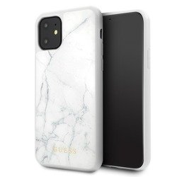 GUESS MARBLE CASE GUHCN61HYMAWH IPHONE 11 BIAŁY