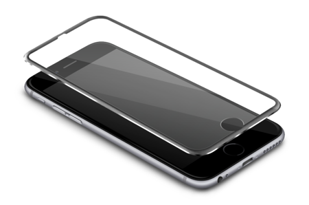 SZKŁO HARTOWANE 3D IPHONE 7 PLUS / 8 PLUS SREBRN